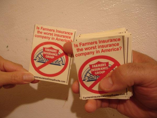 Simple boycott farmers insurance sign boycott farmers insurance cards and signs colourmoves